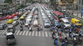 Rote Ampel in Bangkok