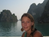 Christin in Halong-Bucht