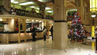 Lobby unseres Cecil Hotels
