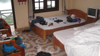 Unser erstes Zimmer im Luong Thuy Family Guesthouse in Sa Pa