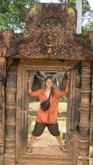 Christin in Banteay Srei