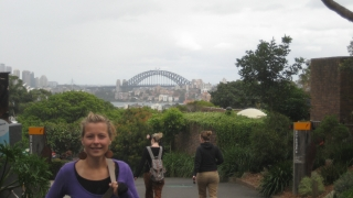 Christin im Taronga Zoo